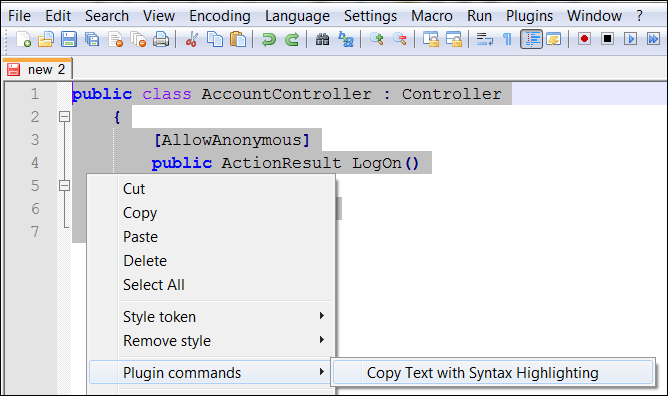 Copy Code With Syntax Highlighting - Technical Overload