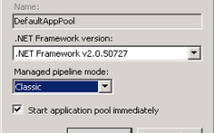 IIS App Pool Settings