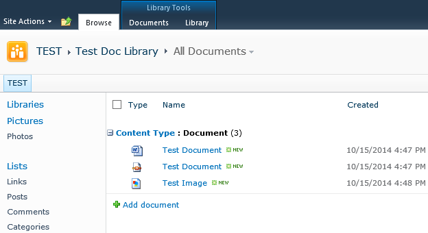 Sharepoint 2010 2013 Group By Content Type Technical Overload