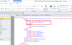 SharePoint Designer Edit View